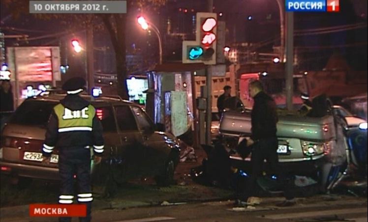 Авария на пересечении проспекта Вернадского и улицы Лобачевского